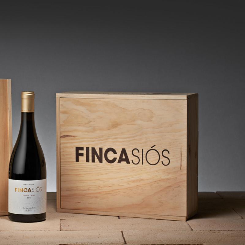Lotes de vino | Finca Siós 2016 caja madera 3 botellas