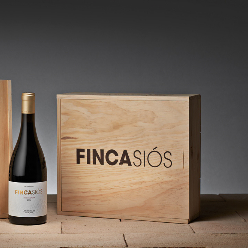Lots de vi | Finca Siós 3 ampolles en caixa de fusta
