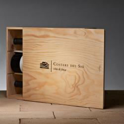 Wine box | Finca Siós wooden box 3 bottles