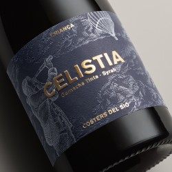 Vintage Red Wine Celistia 2017 label