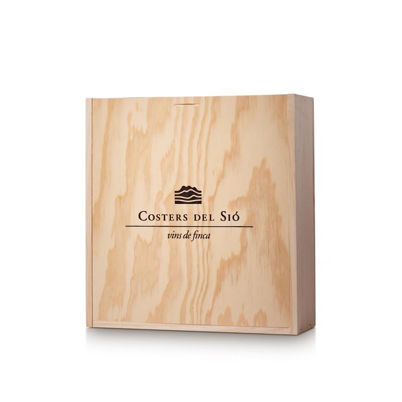 Caja de madera regalo para 3 botellas de vino | Mod.EF02