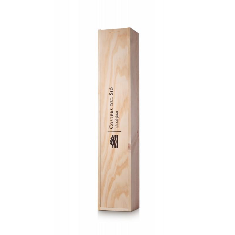 Caixa de fusta regal per a 2 ampolles de vi de 75 cl   Model EF04