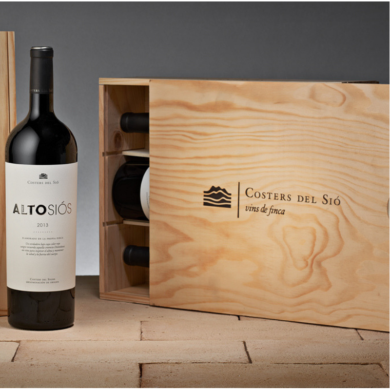 Lotes de vino | Alto Siós Magnum en caja de madera 3 botellas